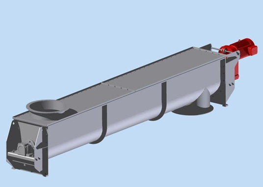 Förderschnecke für Holzschnitzelfaseranlage